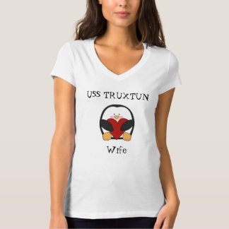 USS TRUXTUN wife shirt