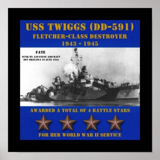 USS Twiggs (DD-591) Poster