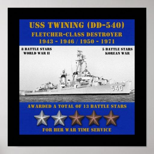 USS Twining (DD-540) Print