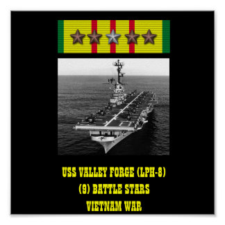 USS VALLEY FORGE (LPH-8) POSTER