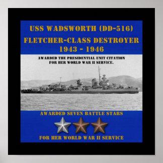 USS Wadsworth (DD-516) Print