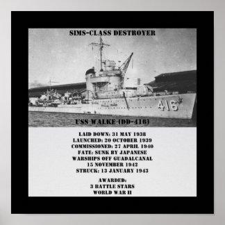 USS Walke (DD-416) Posters