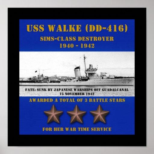 USS Walke (DD-416) Poster