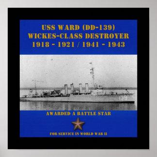 USS Ward (DD-139) Print