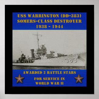 USS Warrington (DD-383) Poster