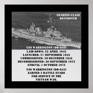 USS Warrington (DD-843) Poster