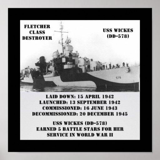USS Wickes (DD-578) Print