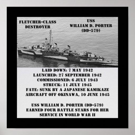 USS William D. Porter (DD-579) Poster