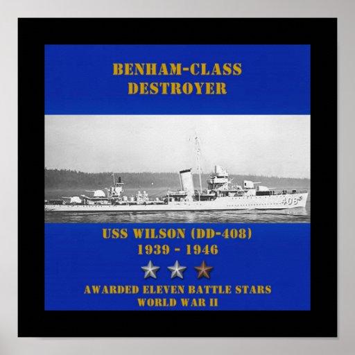 USS Wilson (DD-408) Posters