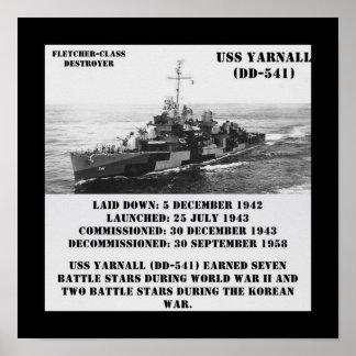 USS Yarnall (DD-541) Poster