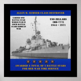 USS Zellars (DD-777) Print