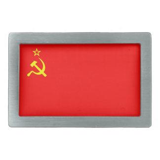 ussr cccp soviet russia communist flag belt buckle