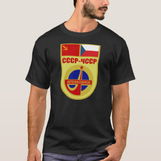 USSR-ČSSR Soyuz 28 Interkosmos Mission Patch T-Shirt