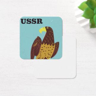 USSR Eagle vintage travel poster Square Business Card