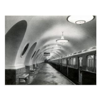 USSR Soviet Moscow Metro (Metropoliten), 1939 Postcard