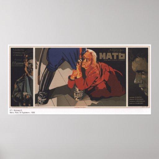 "USSR Soviet Union ""Mother""  Movie 1926 Poster"