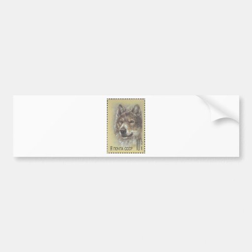 USSR ~ Stamp Russian Wolf Bumper Stickers