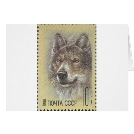 USSR ~ Stamp Russian Wolf Cards