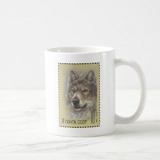 USSR ~ Stamp Russian Wolf Basic White Mug