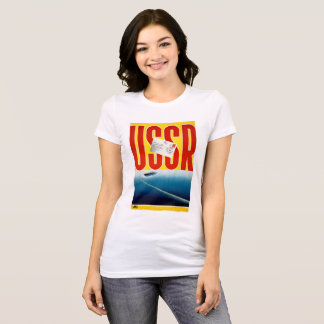 USSR Vintage Cruise Travel Poster Restored T-Shirt