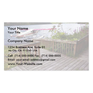 USUganik Lake Cabin Deck and Floatplane Business Card Templates