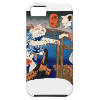 Utagawa country 芳 'enjoying the cool air of cat' iPhone 5 cases