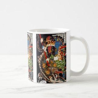 Utagawa country 芳 'mountain shark suppression of coffee mug