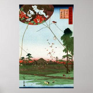 Utagawa Hiroshige Distant view of Akiba of Enshu Poster