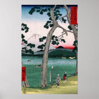 Utagawa Hiroshige Fuji on the Left of Tokaido Road Poster