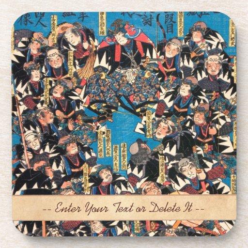 Utagawa Kunisada loyalists discussion ukiyo-e art Drink Coasters