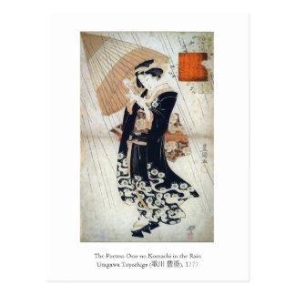 Utagawa Tokoyuni Poetess Ono-no Postcard