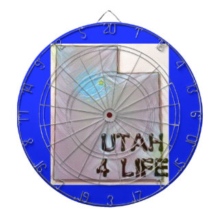 """Utah 4 Life"" State Map Pride Design Dartboard"
