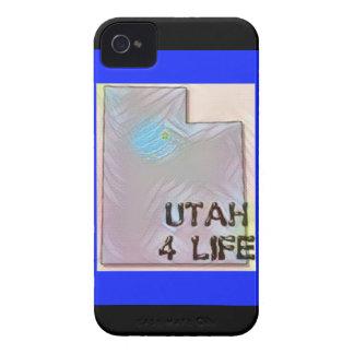 """""""Utah 4 Life"""" State Map Pride Design iPhone 4 Cover"""