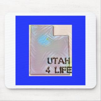 """""""Utah 4 Life"""" State Map Pride Design Mouse Pad"""