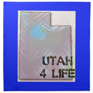 """Utah 4 Life"" State Map Pride Design Napkin"