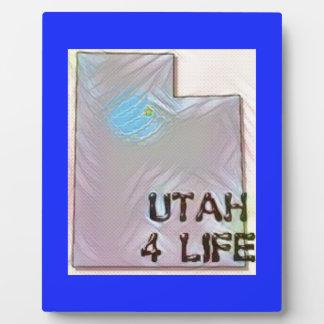 """""""Utah 4 Life"""" State Map Pride Design Plaque"""