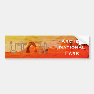 UTAH, Arches National Park Bumper Sticker