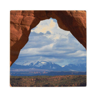 Utah, Arches National Park, Delicate Arch Wood Coaster