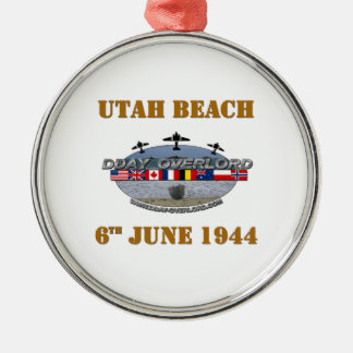 Utah Beach 6th June 1944 Metal Ornament