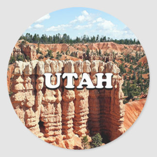 Utah: Bryce Canyon National Park Classic Round Sticker