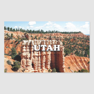Utah: Bryce Canyon National Park Rectangular Sticker