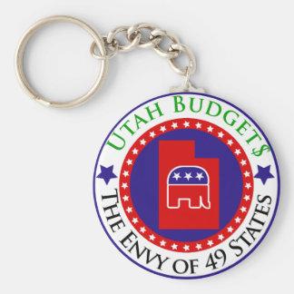 Utah Budgets - The Envy of 49 States Basic Round Button Key Ring