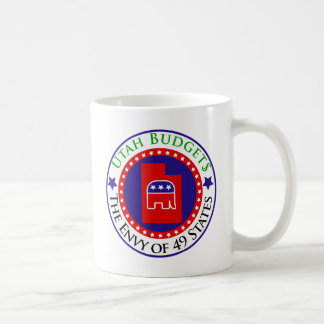 Utah Budgets - The Envy of 49 States Basic White Mug