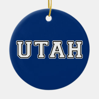 Utah Ceramic Ornament