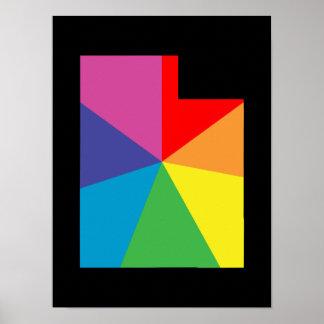utah color burst poster