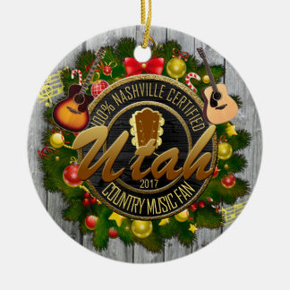 Utah Country Music Fan Christmas Ornament