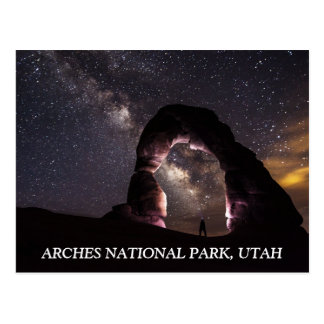 Utah Delicate Arch night stars milky way landscape Postcard