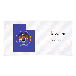 Utah Flag Map Photo Cards