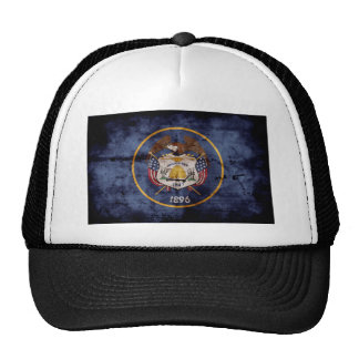Utah Flag Rustic Design Trucker Hat