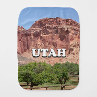 Utah: Fruita, Capitol Reef National Park, USA Burp Cloth